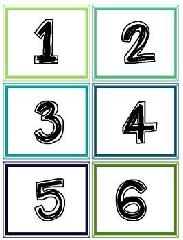 Number Cards 1-180