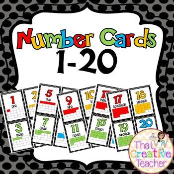 Number Cards 1-20