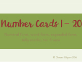 Number Cards 1-20 Back to School Theme