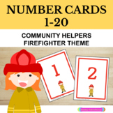 Number Cards 1 - 20: Firefighter, Community Helper Theme