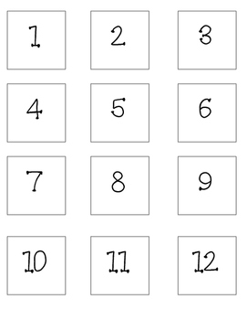 Number Cards 1-20 Freebie