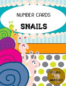 Number Cards 1-20, Snail Themed