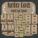 Number Cards 1-20 {Spanish and English}