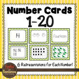 Number Cards 1-20 Chevron Design