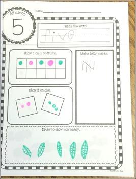 Number Cards 0-20 - Number Sense Activities - Memorable Math