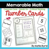 Number Cards 0-20 - Number Sense Activities - Memorable Math