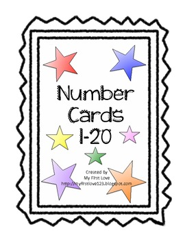 Number Cards 1-20 (colored star theme)