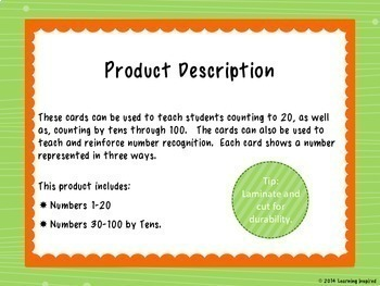 Number Cards 1-20 with Numbers to 100 by Tens {Balloons}