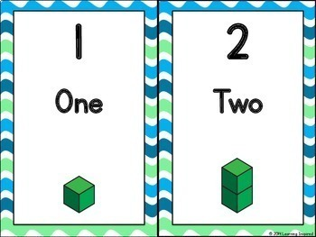 Number Cards 1-20 with Numbers to 100 by Tens {Base Ten Blocks}