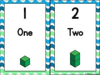 Number Posters Base Ten Blocks