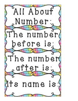 Number Cards 1-20 with Ten Frames in Polka Dots Pocket Chart Posters