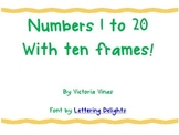 Number Cards 1-20 with ten frames!