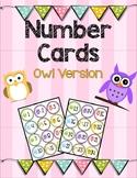 Number Cards 1-24 Owl Version