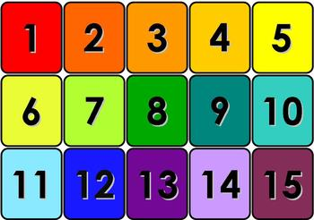 Number Cards 1/4