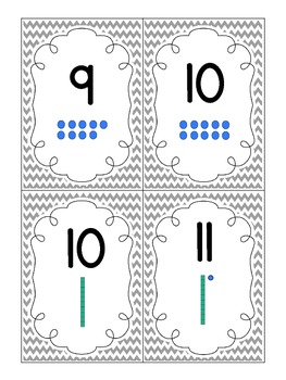 Number Cards 1-40 with Place Value Models