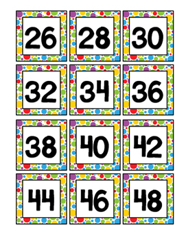 Number Cards 1-48 Dots