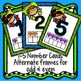 Number Cards 1-5 Hero themed with tens frame (sample)