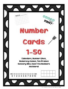 Number Cards 1-50