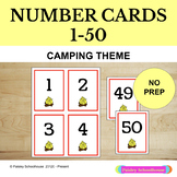 Number Cards: 1 - 50: Camping Theme