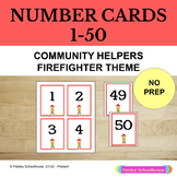 Number Cards 1 - 50: Firefighters: Community Helpers