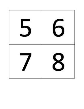 Number Cards 1-60