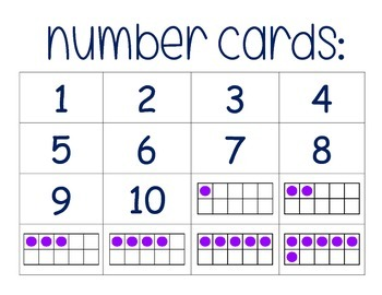 Number Cards 1-9