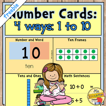 Number Cards 1 to 10 *Freebie*