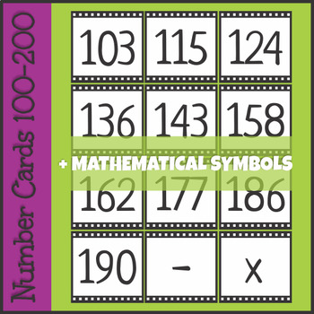 Number Cards 100-200