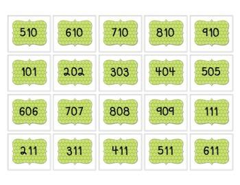 Number Cards- Hundreds