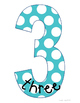 Number Posters Polka Dots