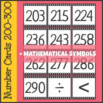 Number Cards 200-300