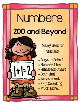 Number Cards 200 plus!