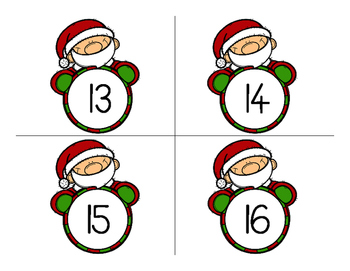 Christmas Number Cards