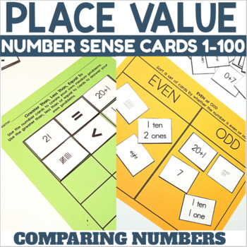 Number Sense Cards for 1-100