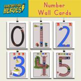 Handwriting Heroes: Number Wall Cards