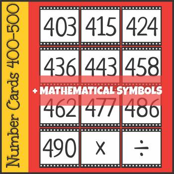 Number Cards 400-500