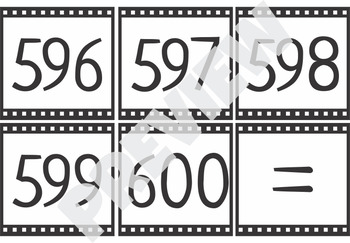 Number Cards 500-600