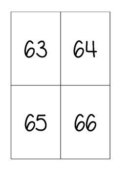 Number Cards 51-100
