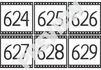 Number Cards 600-700