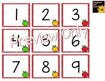 Number Cards ~ Apples ~  0-120
