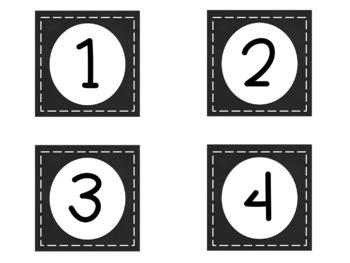 Number Cards Chalkboard Background