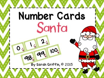 Number Cards ~ Christmas ~  0-100