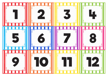 Number Cards - Classroom Management