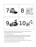 Number Cards- Construction Themed