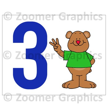Number Cards - Counting Bears