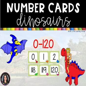 Number Cards ~ Dinosaurs ~  0-120