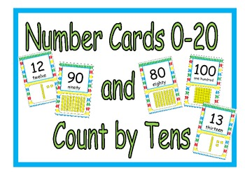 Number Cards Display (Base Ten Blocks)