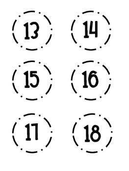 Number Cards FREEBIE