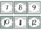 Number Cards FREEBIE {Teal & Gray}