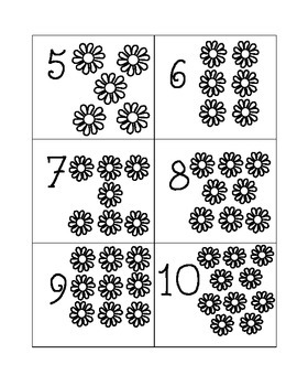 Number Cards- Flowers